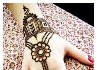 simple Arabic Mehandi designs for Girls