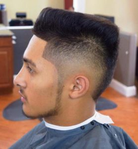 Black Faded Flat Top Haircut